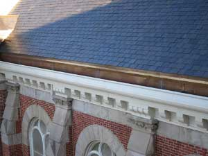 One of the Straight Cornices